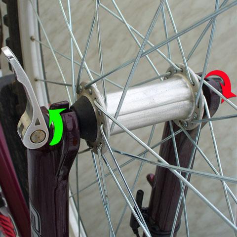 как снять колесо велосипеда