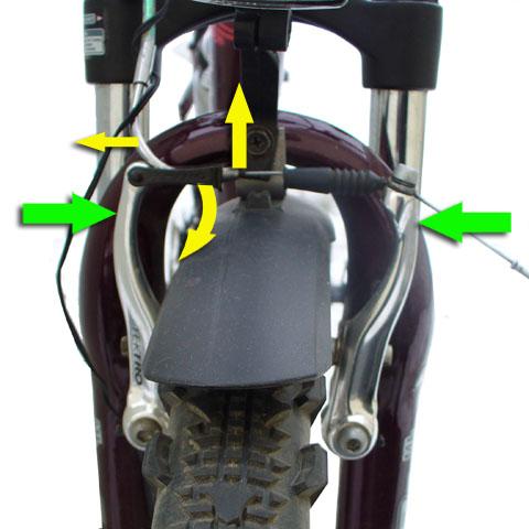 как снять переднее колесо велосипеда